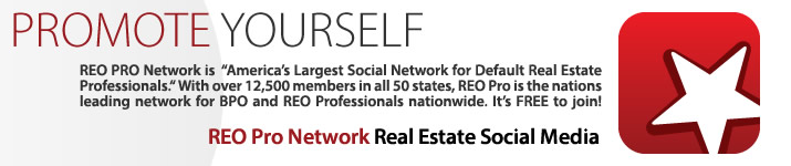 Promote Yourself: REO Pro Network is 'America's Largest Social Network for Default Real Estate Professionals.